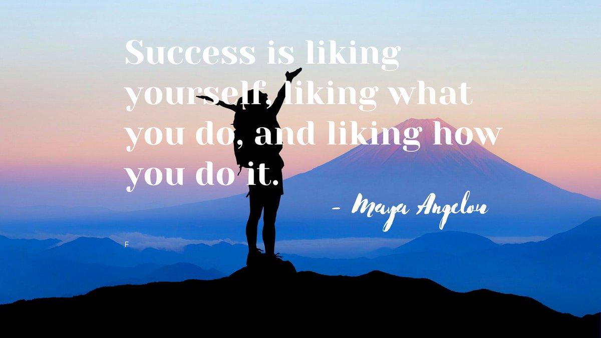 "☀️Quote of the day: ""Success is liking yourself, liking what you do, and liking how you do it."" – Maya Angelou Happy Sunday! Enjoy the beautiful day! #Sundayvibes #Sundaythoughts #sundaymood☀️ #sanday #beatifulday #thusday #dayoff #sunny #funday #weekend #fab #FabulousLives"