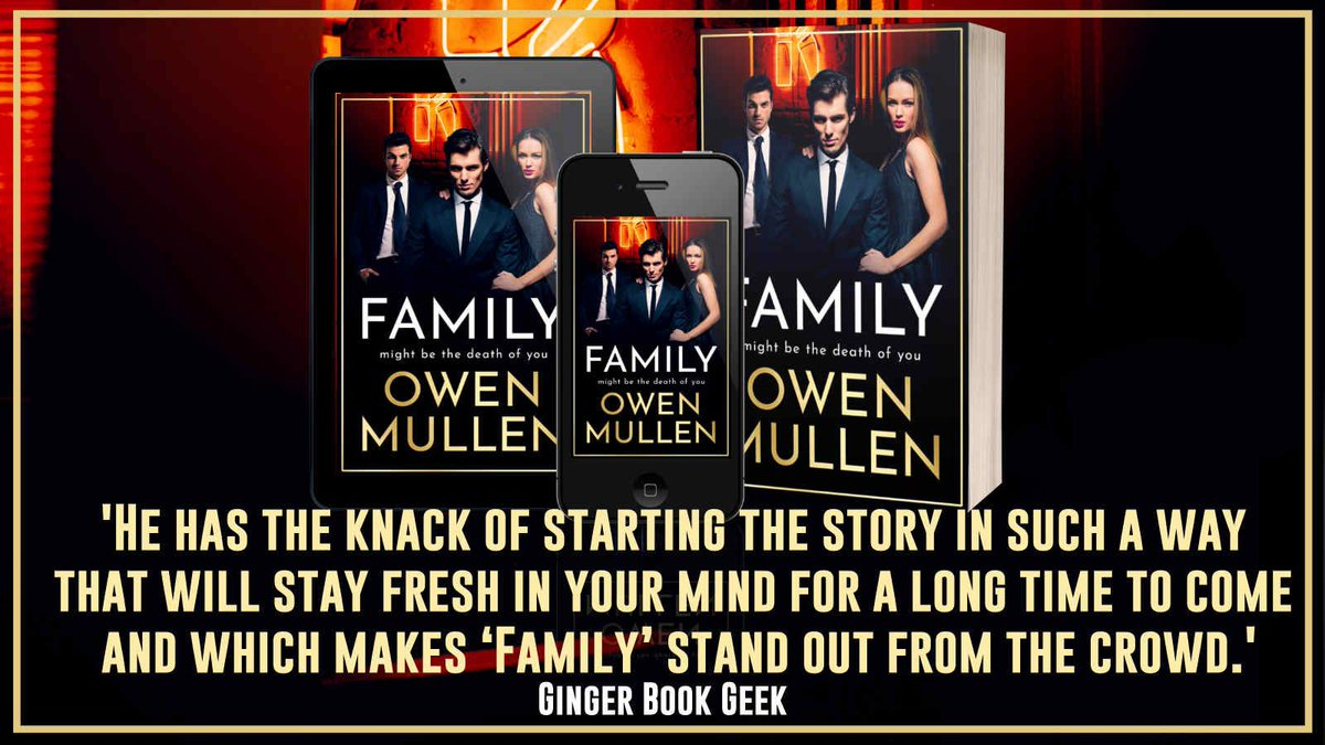 """Just when you thought that you could take a moment to catch your breath, gather your thoughts and reclaim your stomach then off the action would go again.."" says @Ginger_bookgeek about Family by @OwenMullen6     Family  ➡️"