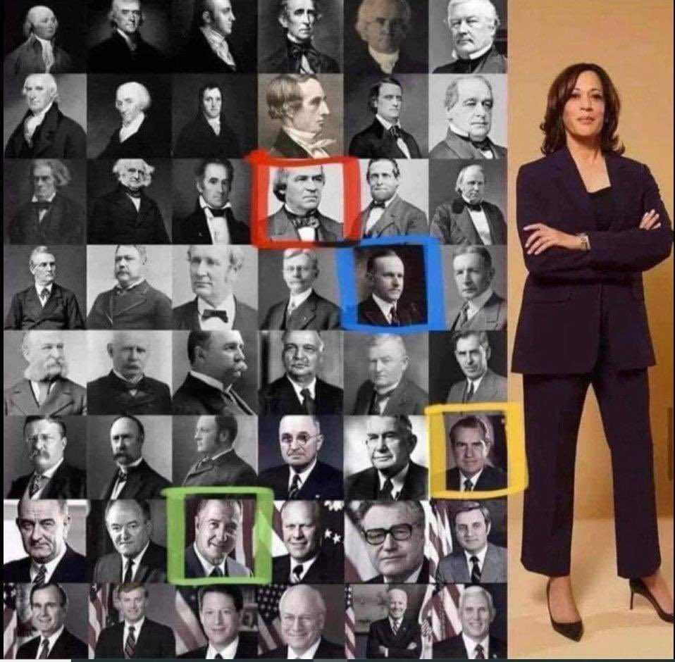 Putting Kamala Harris as VP into perspective.See the red box?  Until then, she would have been enslaved.See the blue box? Until then, she couldn't vote. Yellow box? Until then, she had to attend a segregated school. The green one? Until then she couldn't have her own bank account