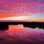 Image for the Tweet beginning: ✌️🧡Sunrise skies over #LakeAcworth are