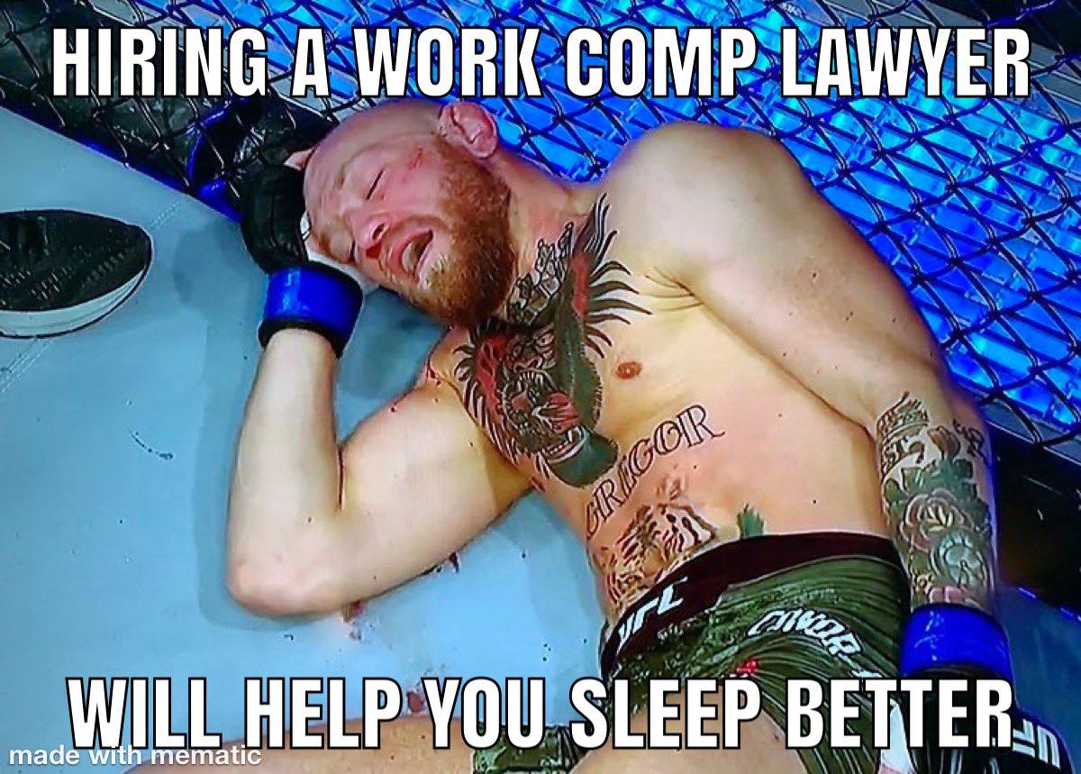 Hiring a work comp lawyer will help you sleep better. #UFC257 #ALworkcomp