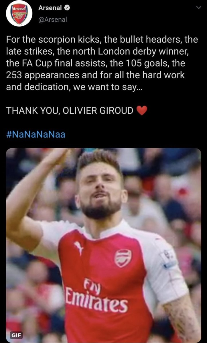Giroud got a more thoughtful send off than Özil, this club makes me cough blood😭😭