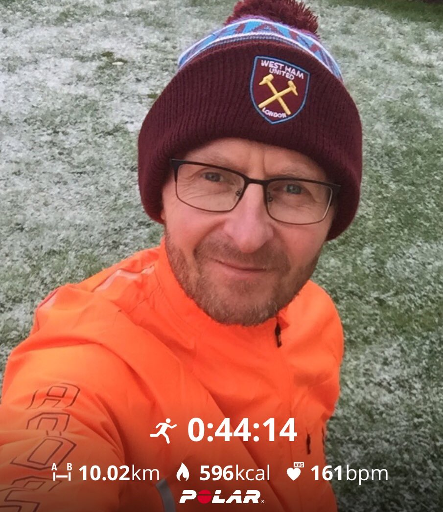Over layered and ended up a sweaty mess! 🥵  #247running #ukrunchat #COYI #WestHam #10k