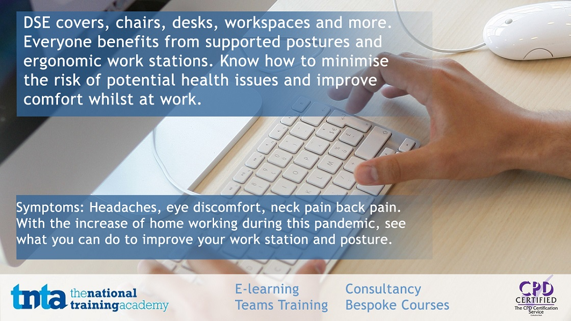 Want to learn more? why not complete our course on DSE awareness.  #homeworking #dse #backpain #pandemic