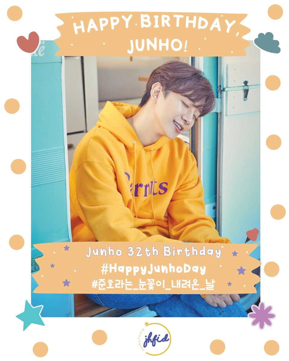Happy birthday to our shining star, @dlwnsghek 💛  #HappyJunhoDay  Wishing you a birthday that's just as wonderful as you are! May every day of your life blessed with love and joy. Be healthy and see you in 54 days! 🎉🎂🥳🥰💛  #준호야_해피벌스데잊