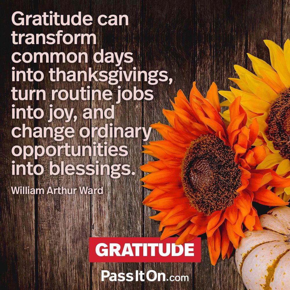 #GRATITUDE! #begrateful #transform #commondays #thanksgiving #jobs #joy #change #opportunity #blessings