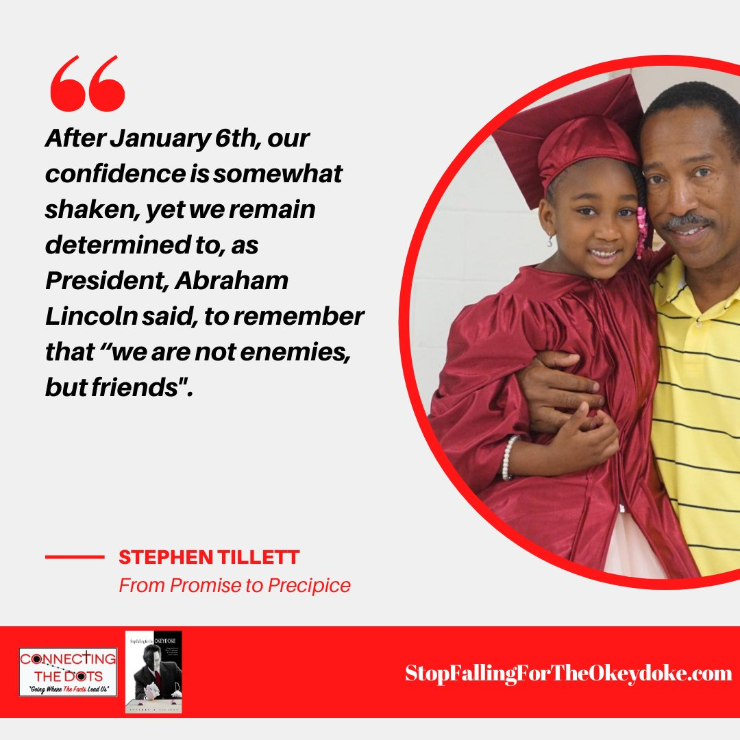 "Another great article from Author Stephen Tillett...  A Letter to My Daughter: ""From the Promise to the Precipice""  . . . #connectingthedots #stopfallingfortheokeydoke #blog #author #StephenTillett #kamalaharris #inauguration"