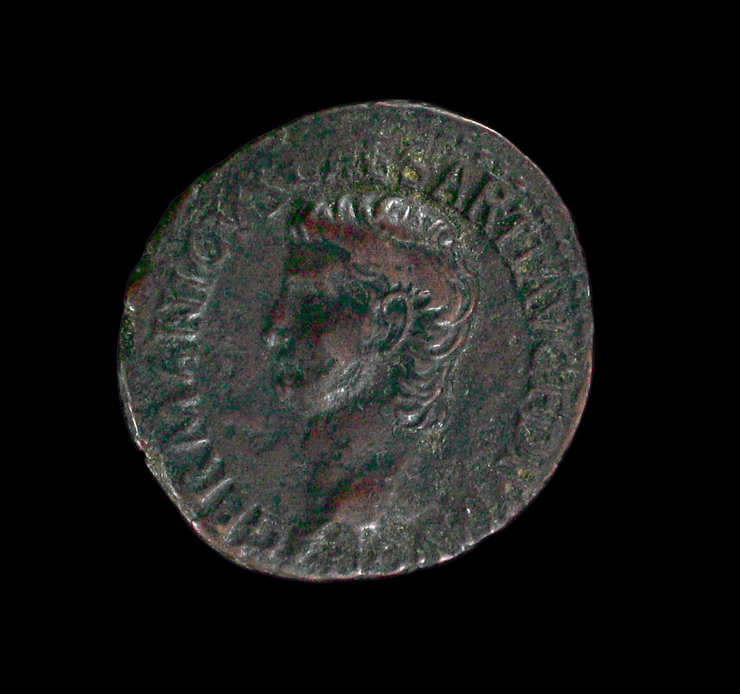 Busy day in ancient Rome! #onthisday in 41 the Emperor Caligula was assassinated and in 76 the Emperor Hadrian was born.  Bronze as, Caligula bare headed. 37-41 CE. KM 1991.2.363 Bronze sesterius, Laureate head of Hadrian. 125-128 CE. KM 1991.2.501