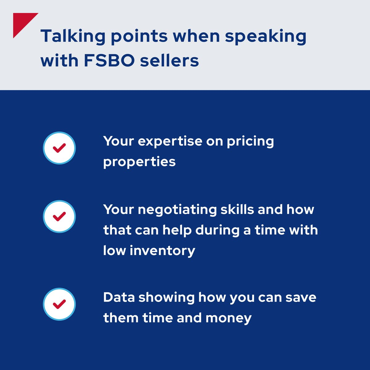 Sellers may need help understanding the benefits of working with a skilled agent. Here are a few topics you can discuss and data you can share to convince them you can save them time and money.   #era #fsbo #erarealestate #realestate #teamera #realestateagents#realestateadvice