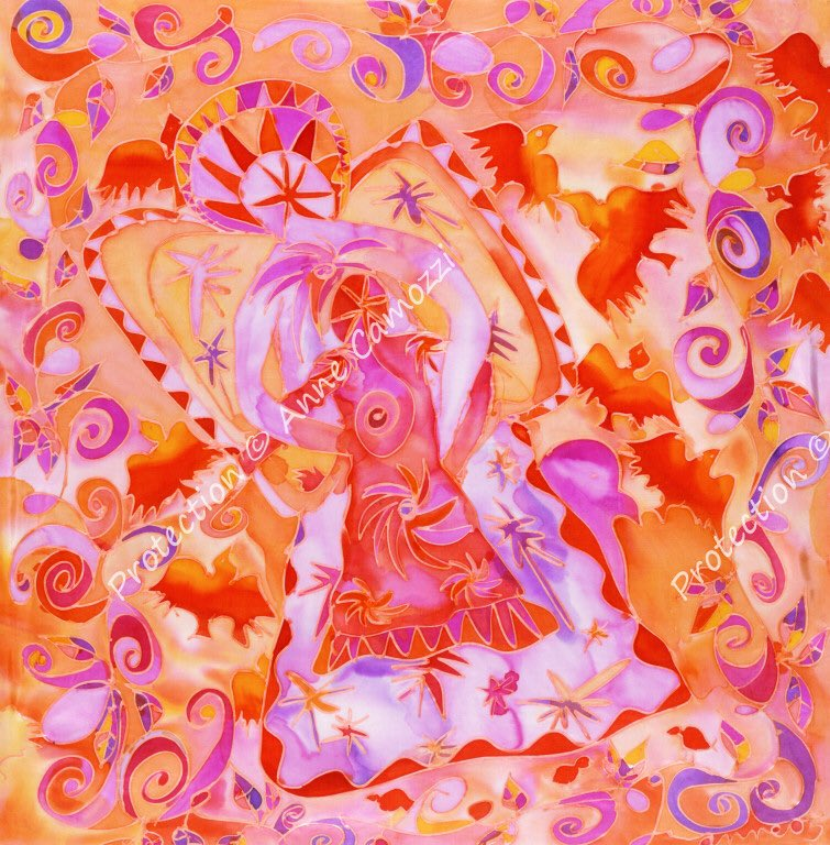 """Praise this world to the Angel, not the unsayable one...show him some common thing, shaped through generations that lives as ours , near to our hand in and our sight"" RILKE #annecamozziart #painting #sundayvibes #SundayMorning"