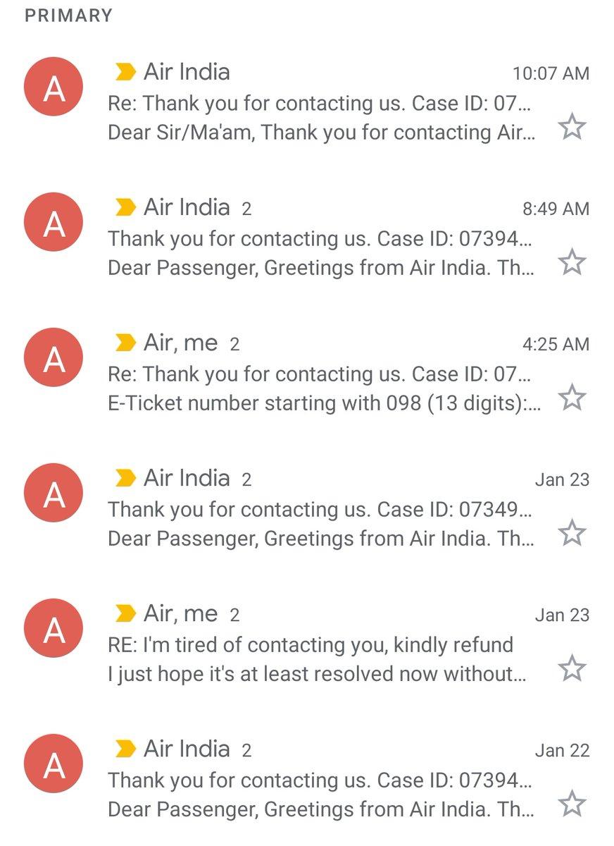 It's funny how @airindiain creates 1000s of case IDs and solves none of them😂😂 #airindia #India @DGCAIndia