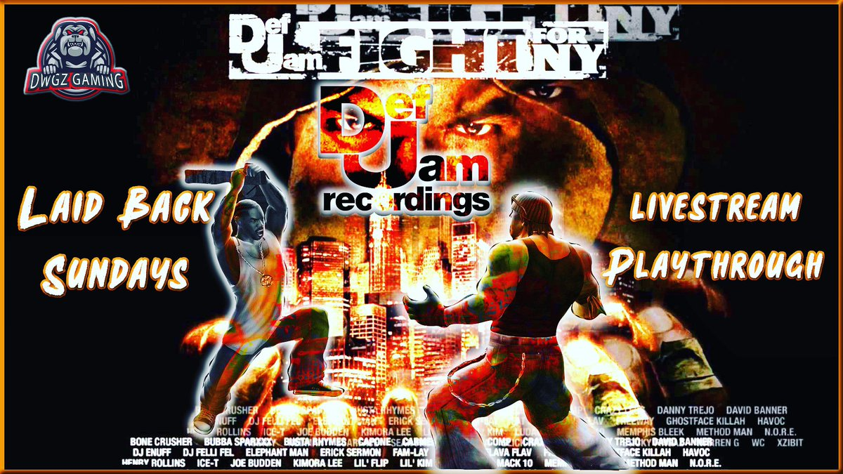 1/24/2021 - Laid Back Sunday's! We will be playing Def Jam Fight for NY, definitely an all time classic. Tune in to the stream tonight at 10pm est on my YouTube Channel (link in bio) & Twitch channel at .  #defjamrecords #defjamfightforny #youtube #twitch