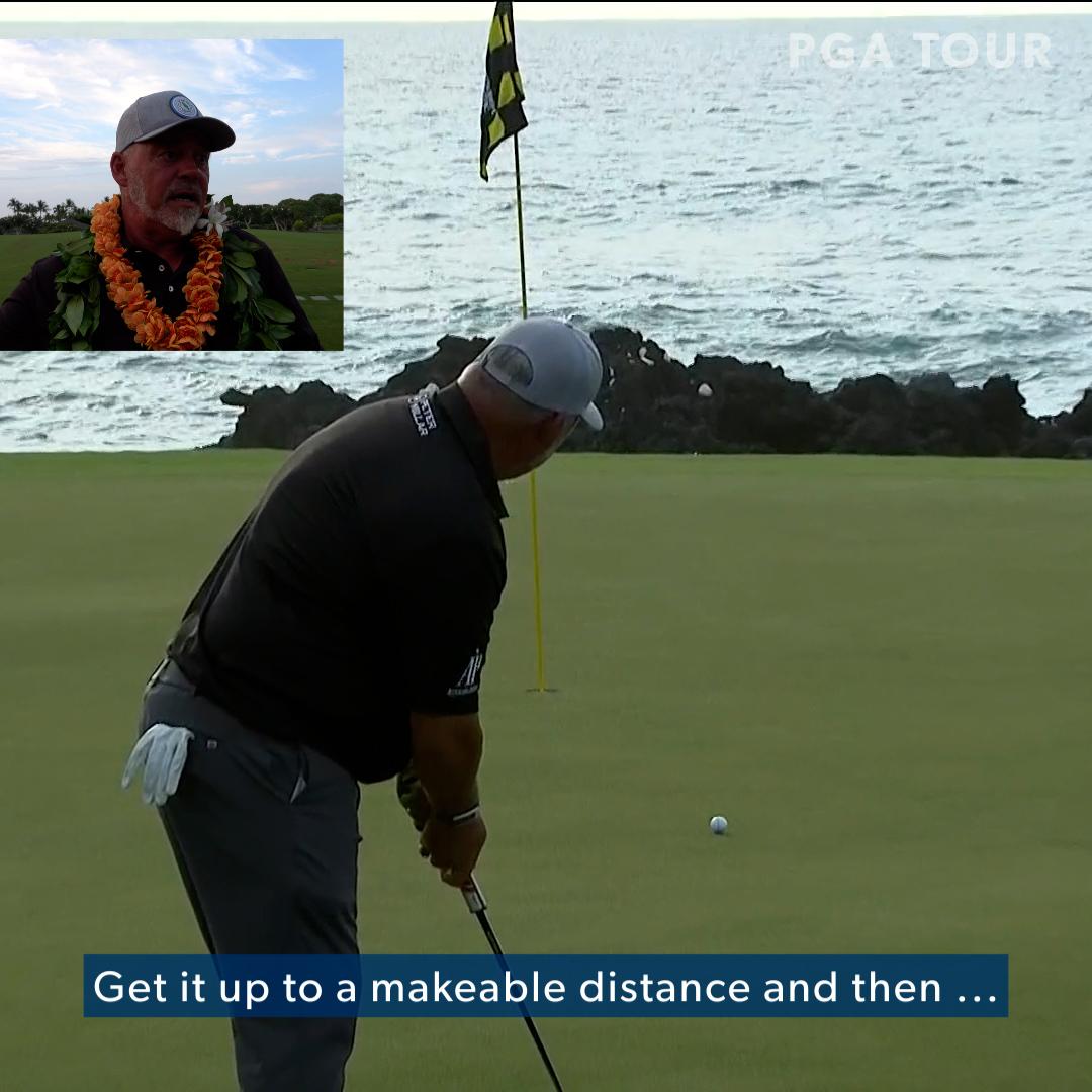 """Speed, speed, speed.""  Inside @DarrenClarke60's huge putt on No. 17  to seal @MEC_golf."