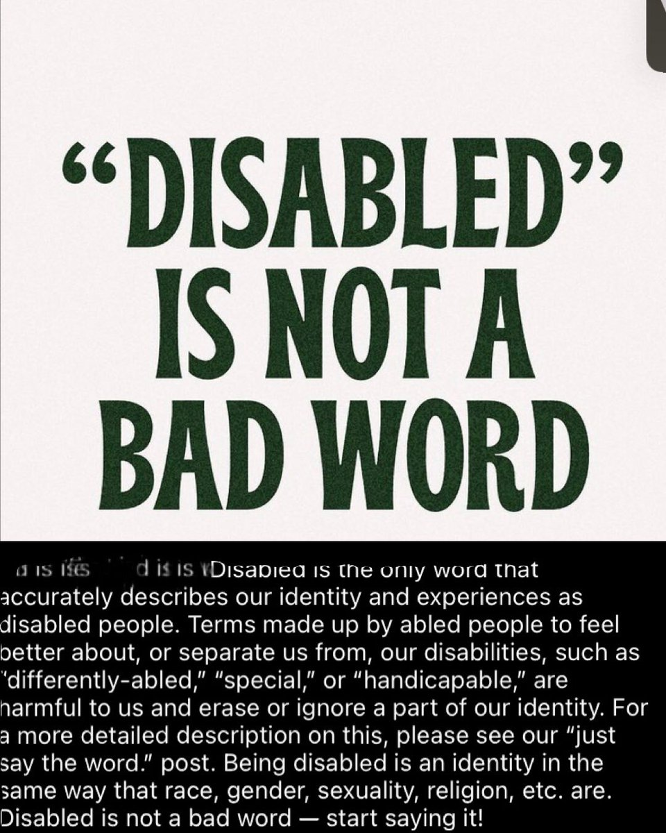 Just saying thank you @disabilitytogether for posting this #repost #disabledandproud #disableisnotabadword #disabilityawareness #disability #disabled