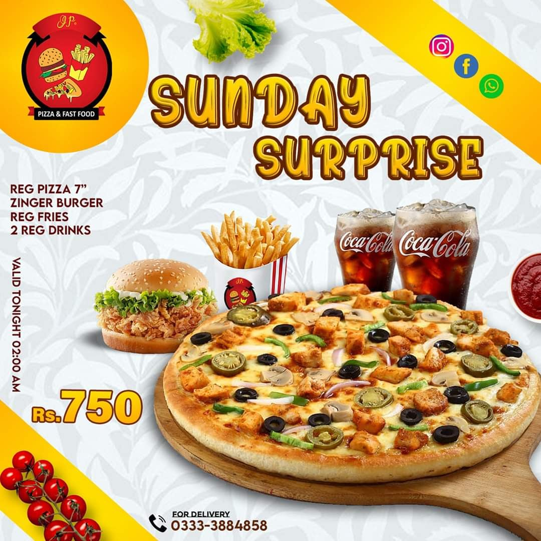 #Sunday #Surprise #Offer  Valid Tonight 02:00 AM  Double road food street branch  Whats'app : 0333-3884858  Scheme 3 branch  What's aap  0303 8744499 . . #zinger #chappli #Chickenpeti #towerburger #fastfood #homedelivery #familytime #deals #pizza #burger #shawarma #fried #chicken