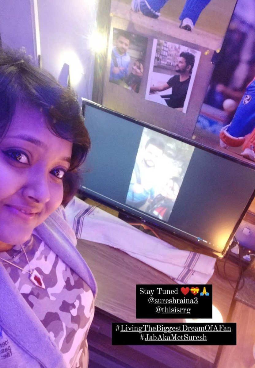 Wait for it ❤😍🌟 @ImRaina  #LivingTheBiggestDreamOfAFan 💝 #SureshRaina #RainaKiDeewani