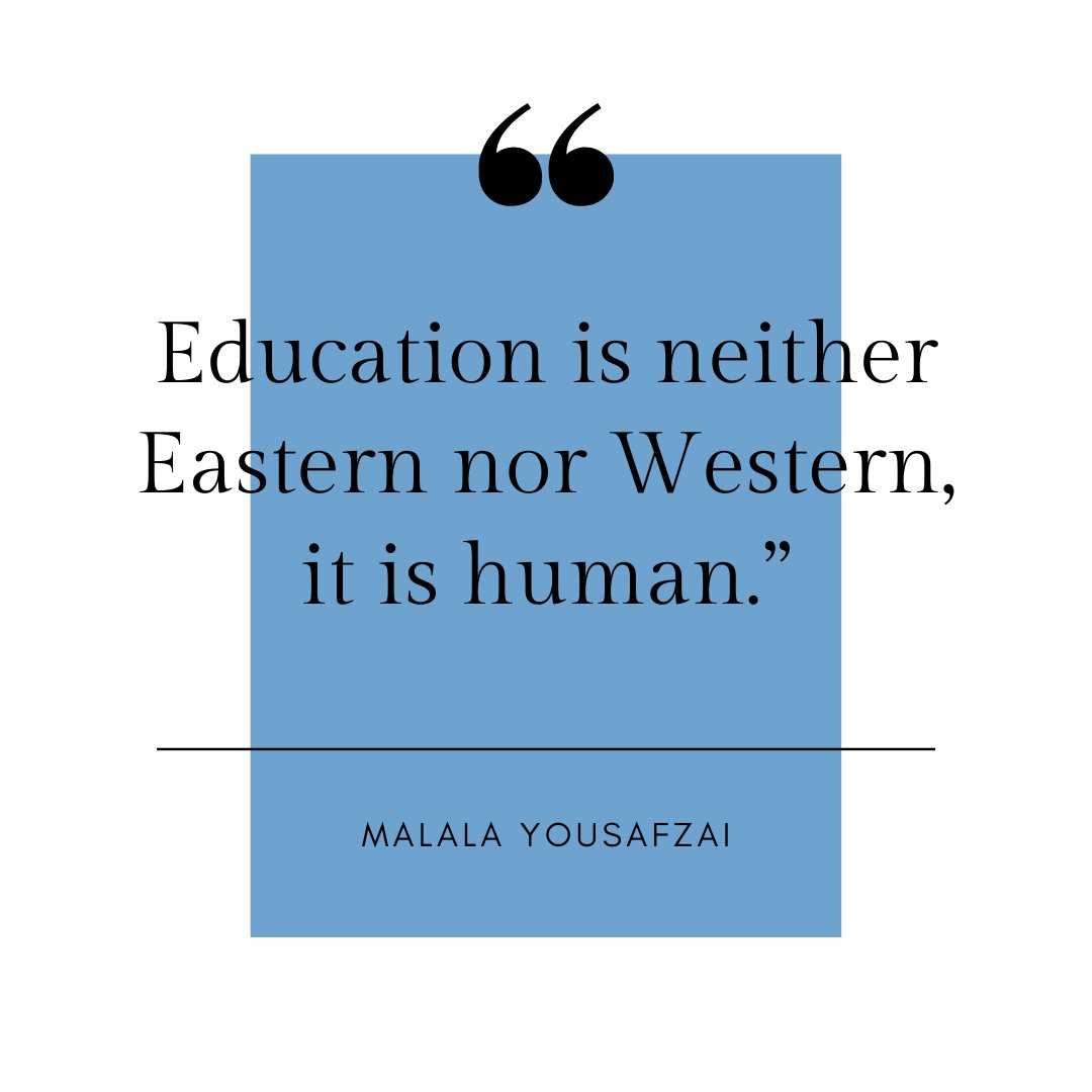 @Malala educates us through her journey towards education. Her story makes waves as she continues to make #herstory  #InternationalEducationDay #malala #InclusiveEducation #TheFutureisFemale