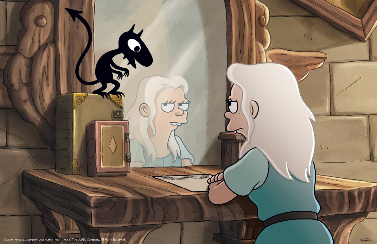 I am rewatching @disenchantment from the beginning, and this show is truly funny and only gets funnier with each watch. Shoutout to @Joshstrangehill, @thatbilloakley, and everyone involved.
