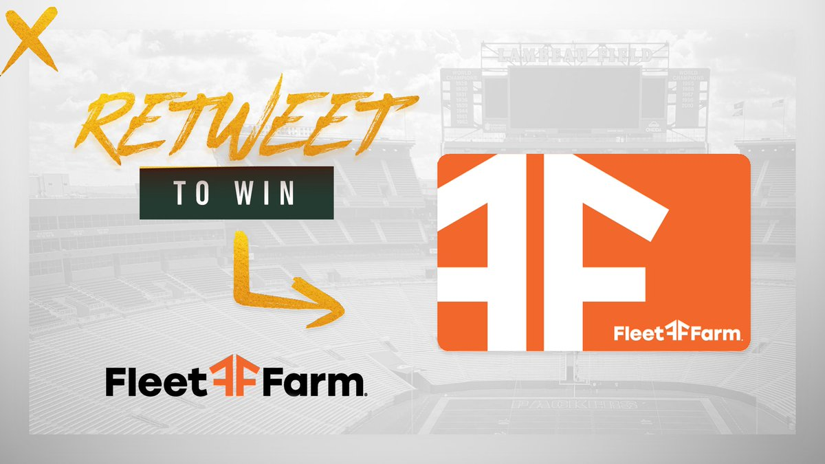 Championship gameday giveaway!   🚨 RETWEET + follow us for a chance to win a Fleet Farm gift card 🚨  #GoPackGo