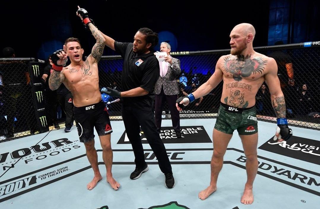 AMARGO REGRESO  #UFC 👊🏽 Connor McGregor 🇮🇪 volvió de su tercer retiro para perder por knock out (2° round) por primera vez, ante Dustin Poirier 🇺🇲  Sucedió en la pelea estelar del #UFC257 desde Abu Dhabi 🇦🇪  #McGregorvsPoirier2