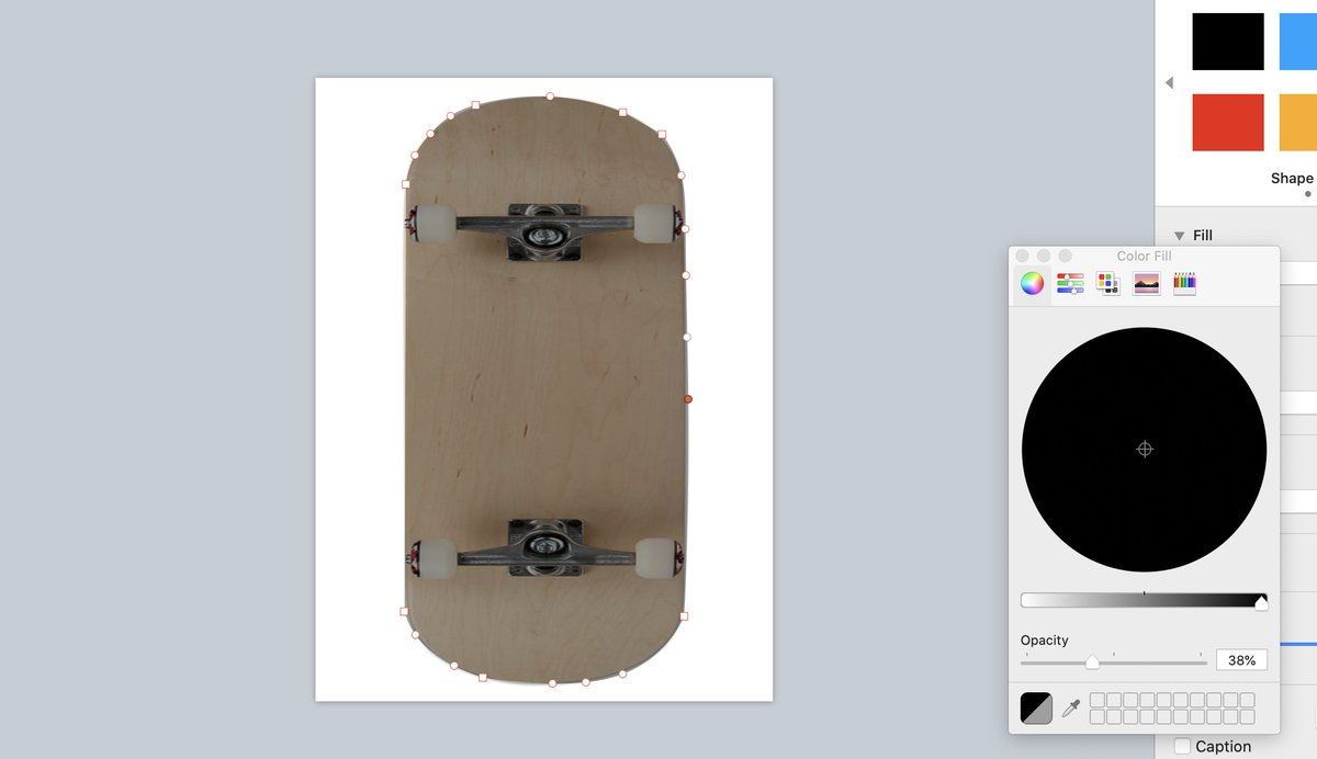 """LOVE the """"Make Editable"""" feature in #Keynote with shapes. Make custom shapes by laying over desired image, bring down opacity, and edit borders! #EveryoneCanCreate #AppleEDUchat @APPLEedu #edtech #choiceboard"""