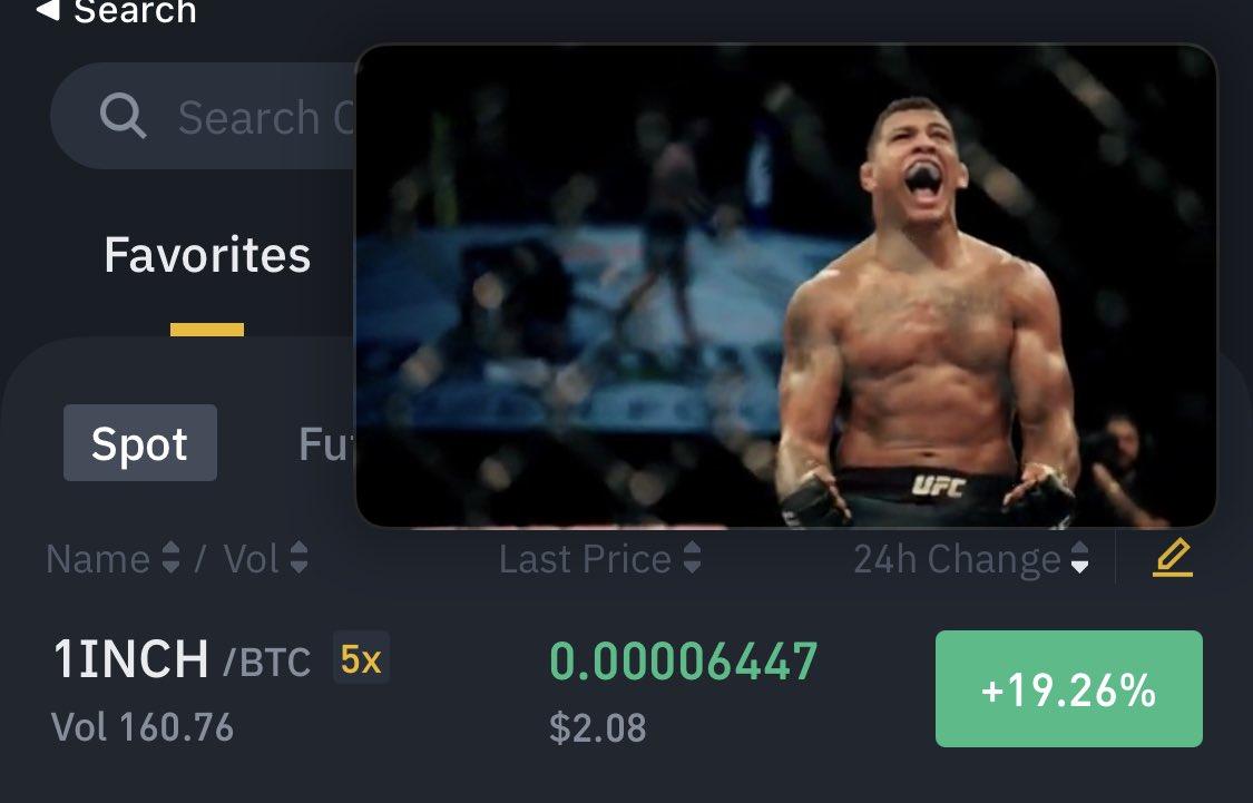 Always multitasking #cryptocurrency #trading & #UFC #MMA @ufc #1inch