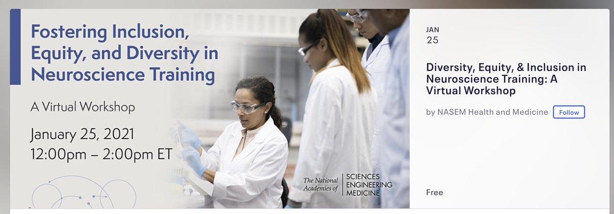 "Check out: #Diversity, #Equity, & #Inclusion in #Neuroscience #Training: A Virtual #Workshop""     #DiversityandInclusion  #NRMNmentoringMatters #amandascichat #NIH #science #NSF #NRMN #students #PhD #scientists   @NRMNET @OFDIRprogram @GSBS_UNTHSC"