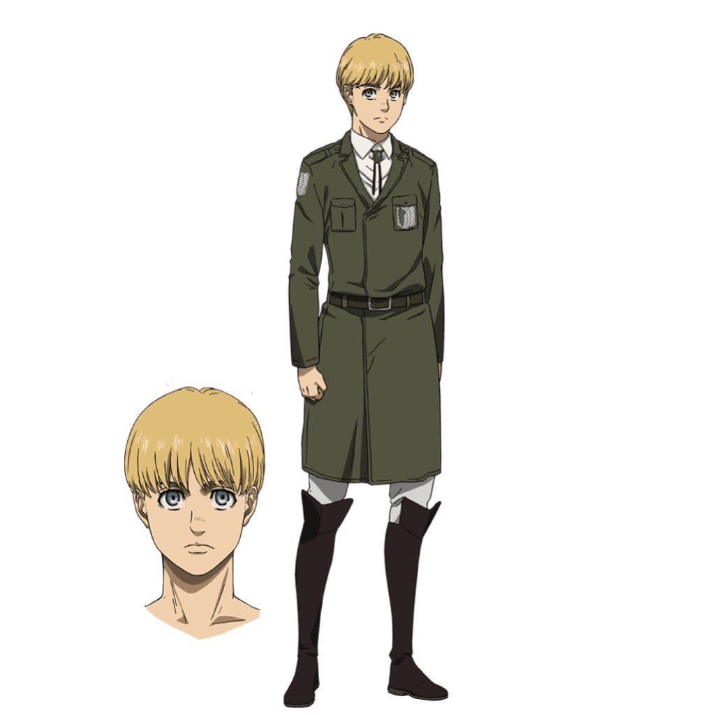 【Character Design Unveiled!】 Attack on Titan The Final Season Character: Armin and Hange ✨More: shingeki.tv/final/