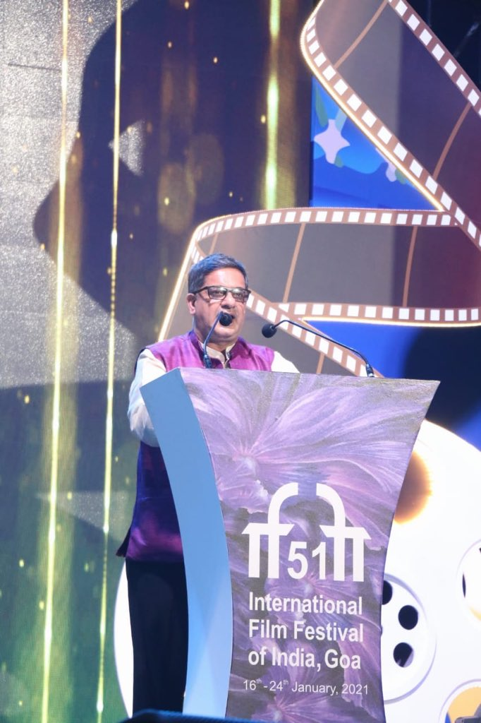 Closing Address By The Festival Director Shri Chaitanya Prasad At The Closing Ceremony Of #IFFI51.  @Chatty111Prasad @satija_amit @PIB_India @MIB_India