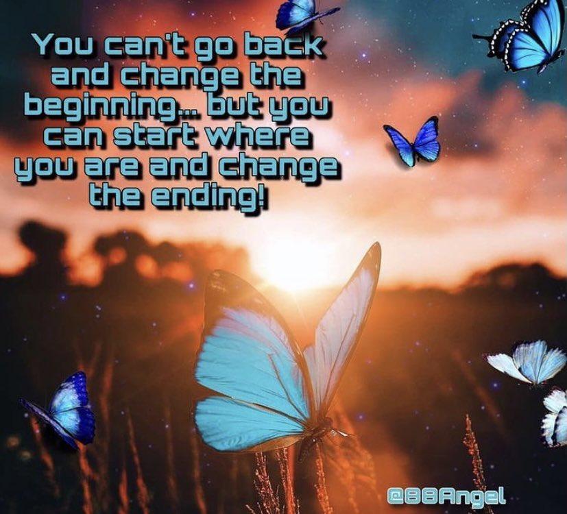 You can't go back and change the beginning, but you can start where you are and change the ending! #sundaymorning #sundaymotivation #SundayFunday #sundayvibes #sunday #motivation #quotes #quote #Inspiration #inspirationalquotes #inspirational