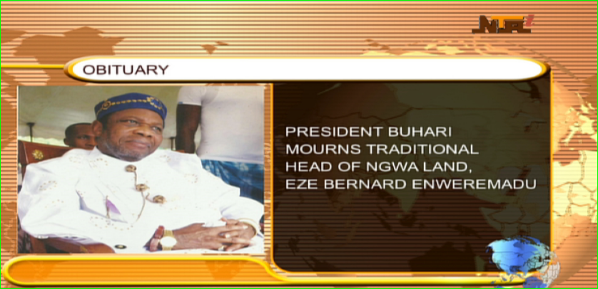 Buhari reacts to death of Eze Enweremadu