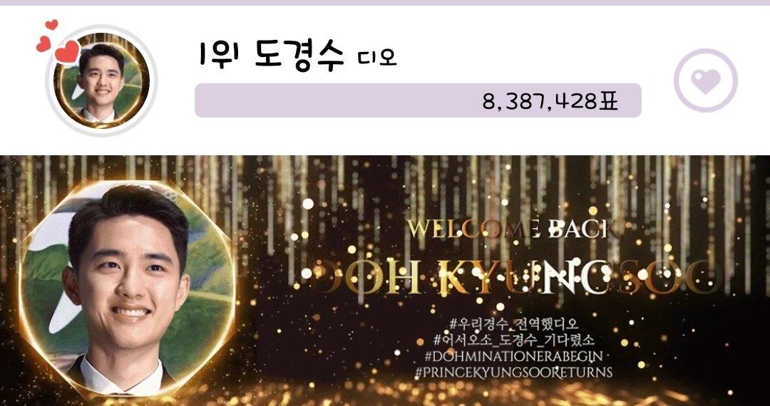 #우리경수_전역했디오 #어서오소_도경수_기다렸소 #DOHminationEraBegin #PrinceKyungsooReturns 🚨최애돌 엑소 디오 1위! 🚨최애돌 셀럽 도경수 1위! 배너 유지 할수 있게 단단이들 투표 해주세요👉👉💪💪 배너제작 @DOHSquad Thank you ♡