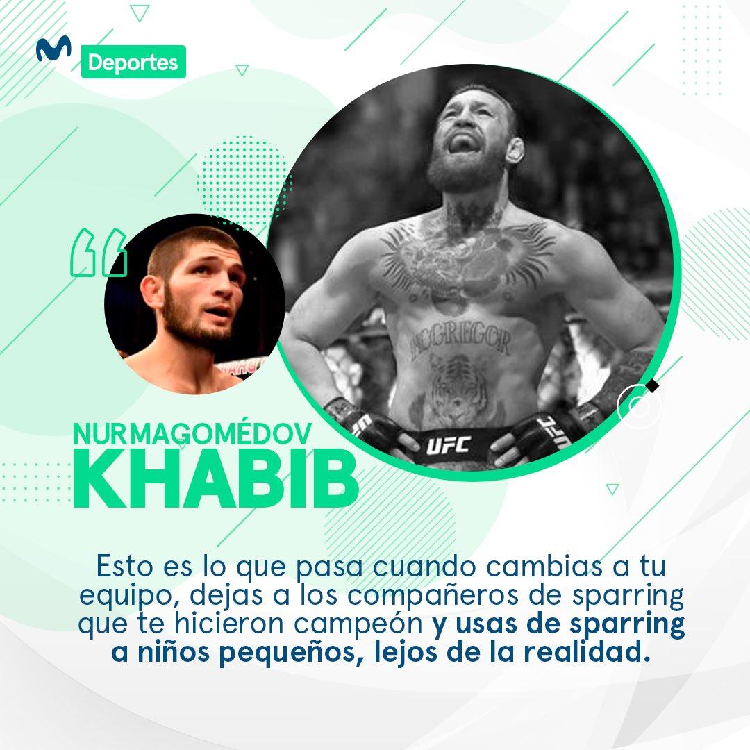 . @TeamKhabib 🇷🇺 y @TheNotoriousMMA 🇮🇪 no se guardaron nada tras la pelea de anoche en la #UFC257 🔥