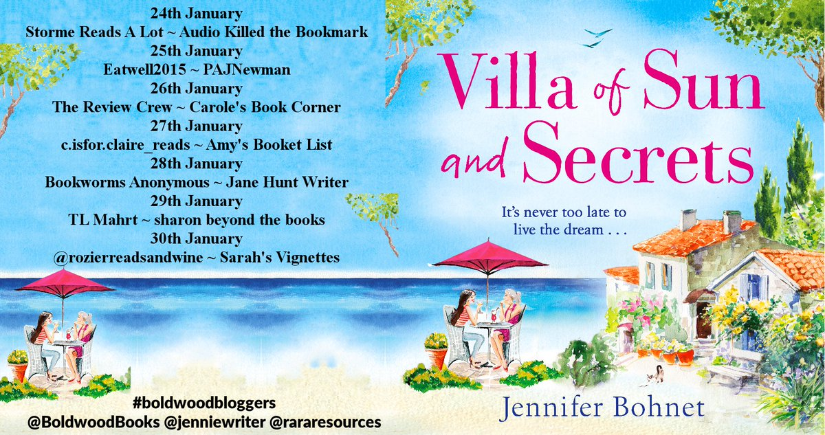 """""""The audiobook narrator was great, and she used different voices that kept me listening."""" says @hybibliophiliac about Villa of Sun and Secrets by @jenniewriter  @BoldwoodBooks"""