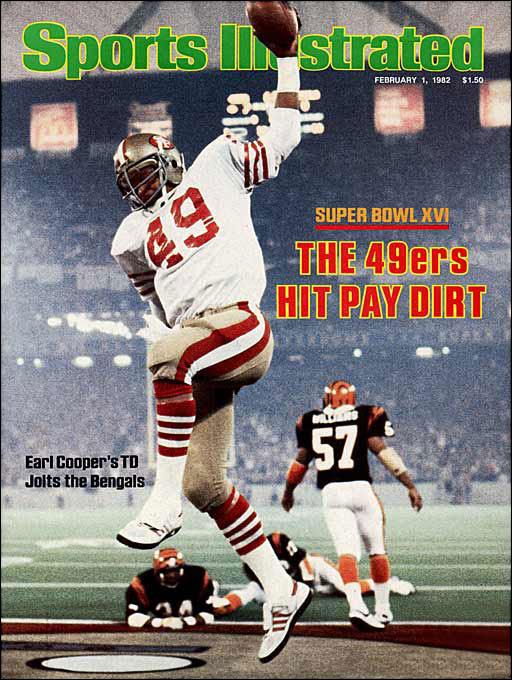 Jan 24, 1982: the San Francisco 49ers defeated Cincinnati 26-21 in Super Bowl XVI. #80s Joe Montana was the games MVP.