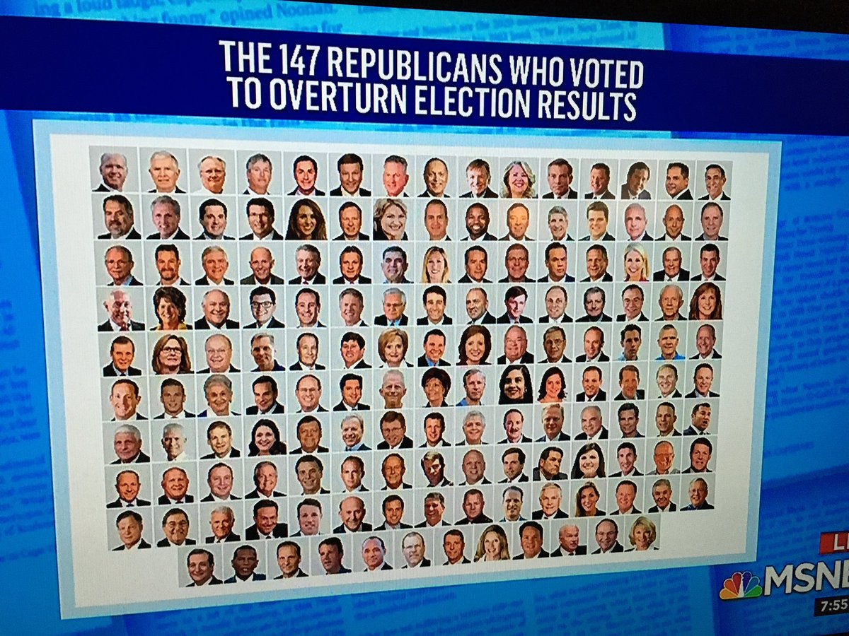 #SeditionHasConsequences #The147 are traitors to the USA 🇺🇸. #MSNBC #TedCruzisaSeditionist #JoshHawleyIsATraitor #ConvictTrumpNow
