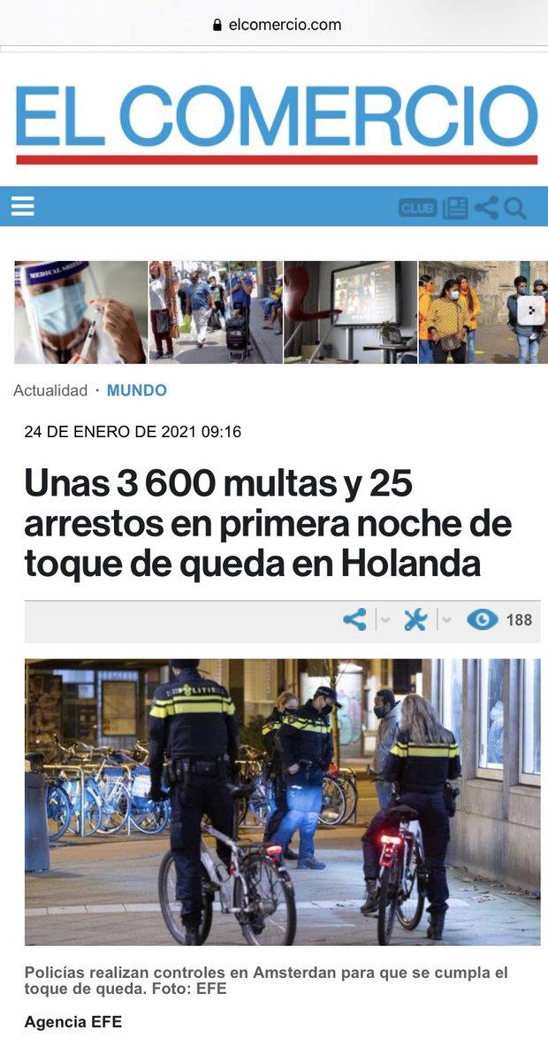 """¡En todo el mundo hay #COVIDIOTS !  vía @elcomerciocom     Por cierto, arreglen el """"typo"""". Se escribe correctamente #Ámsterdam   No """"Amsterdan"""" 🙄"""