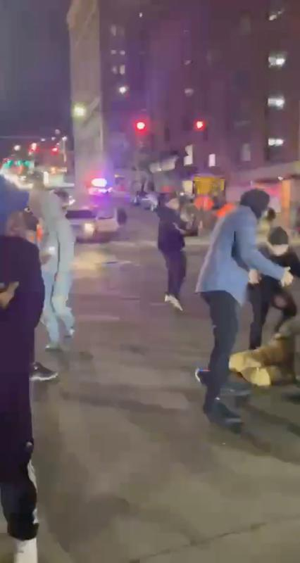 Police car in Tacoma, Washington, smashes through crowd watching street racers