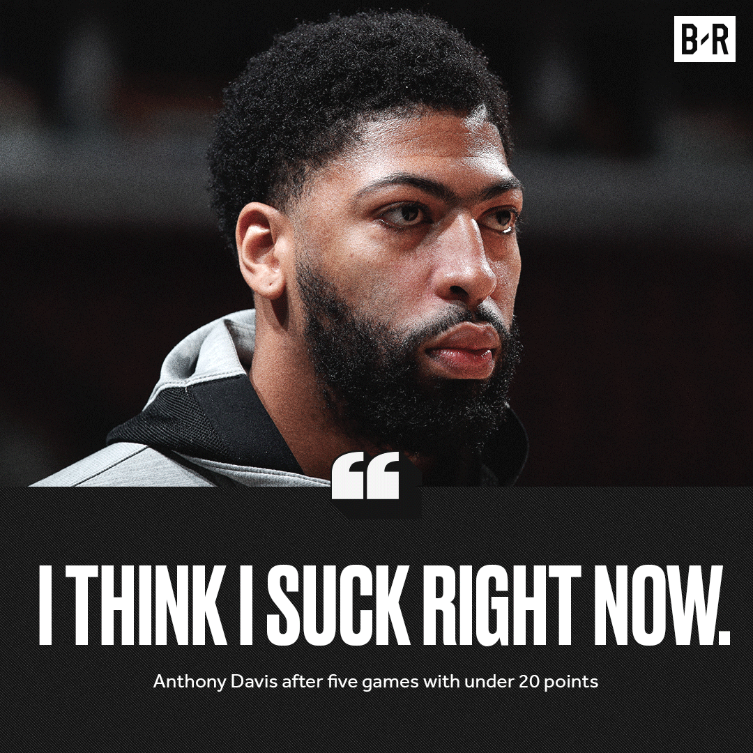Replying to @BleacherReport: AD called himself out and then rose to the challenge with a monster game 😤