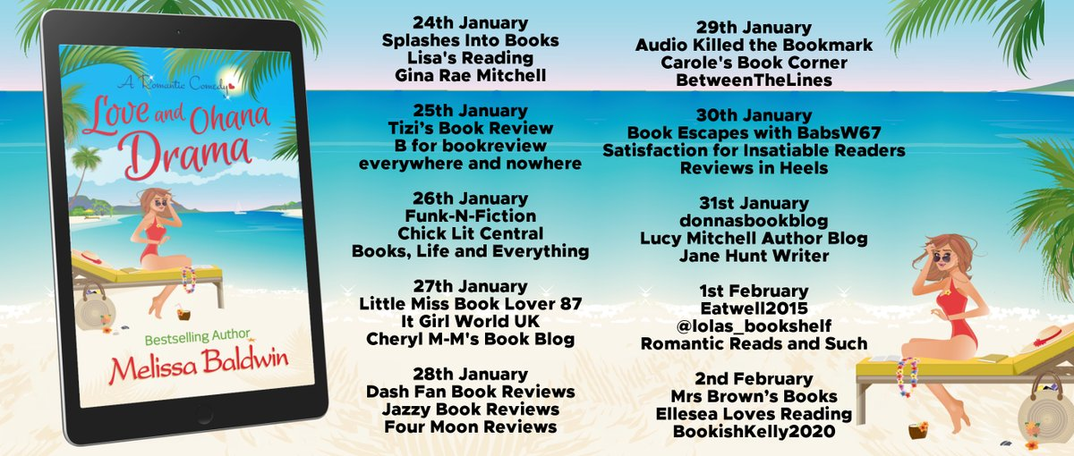 """""""Get ready for laughter, cringing, partying, arguing and plenty of surprises in this delightful romcom. """" says @bicted about Love and Ohana Drama by @mpbaldwinauthor"""