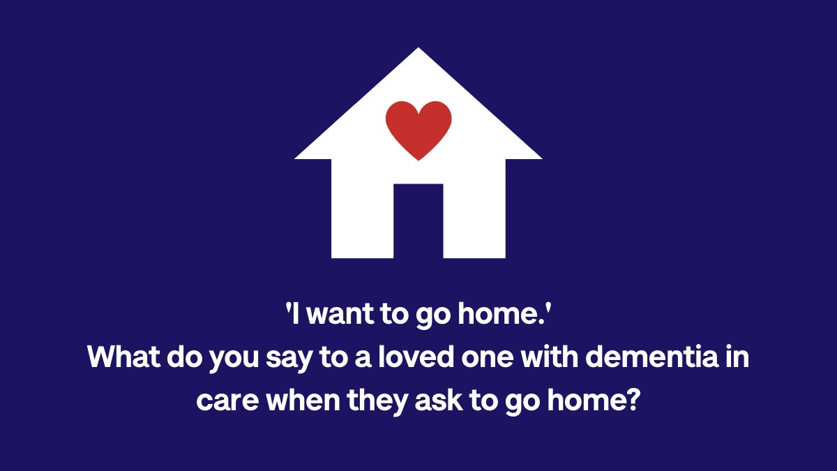 'I want to go home.' What do you say to a loved one with dementia in care when they ask to go home?  Join the discussion and share suggestions on Talking Point here: