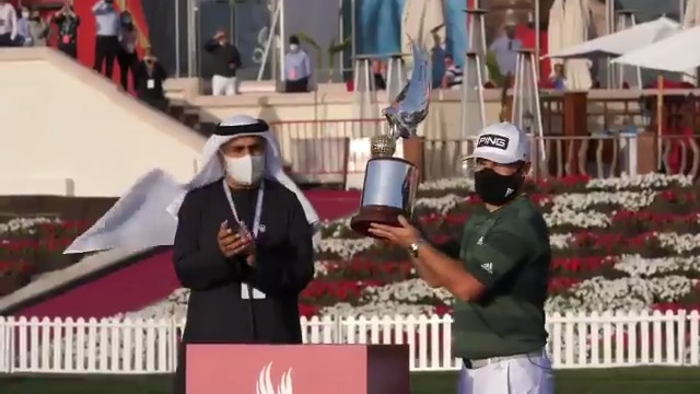 Behind the scenes 📹  It was an honour to have HE Aref Al Awani, General Secretary of Abu Dhabi Sports Council with us to congratulate Tyrell Hatton on his #ADGolfChamps triumph 🙌  @alawani @AbuDhabiSC #RolexSeries #WitnessTheIncredible