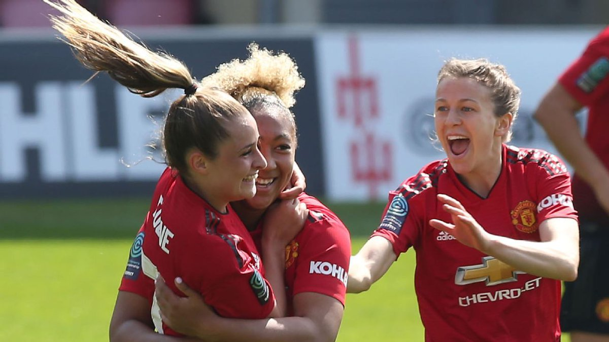 LET'S GO! latest victory for the Red Devils gives the team a little breathing space on top of the #BarclaysFAWSL table. Still a bit of games to go till the end of the season. But.. Red Devils might go all the way you know🤔.. #MUFC