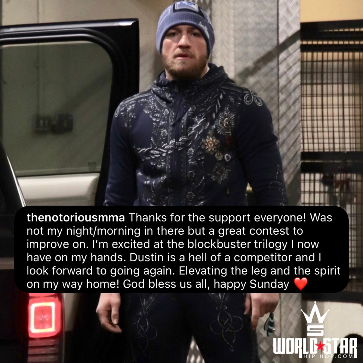 #ConorMcGregor had this to say following his loss to #DustinPoirier last night...🙏 @TheNotoriousMMA