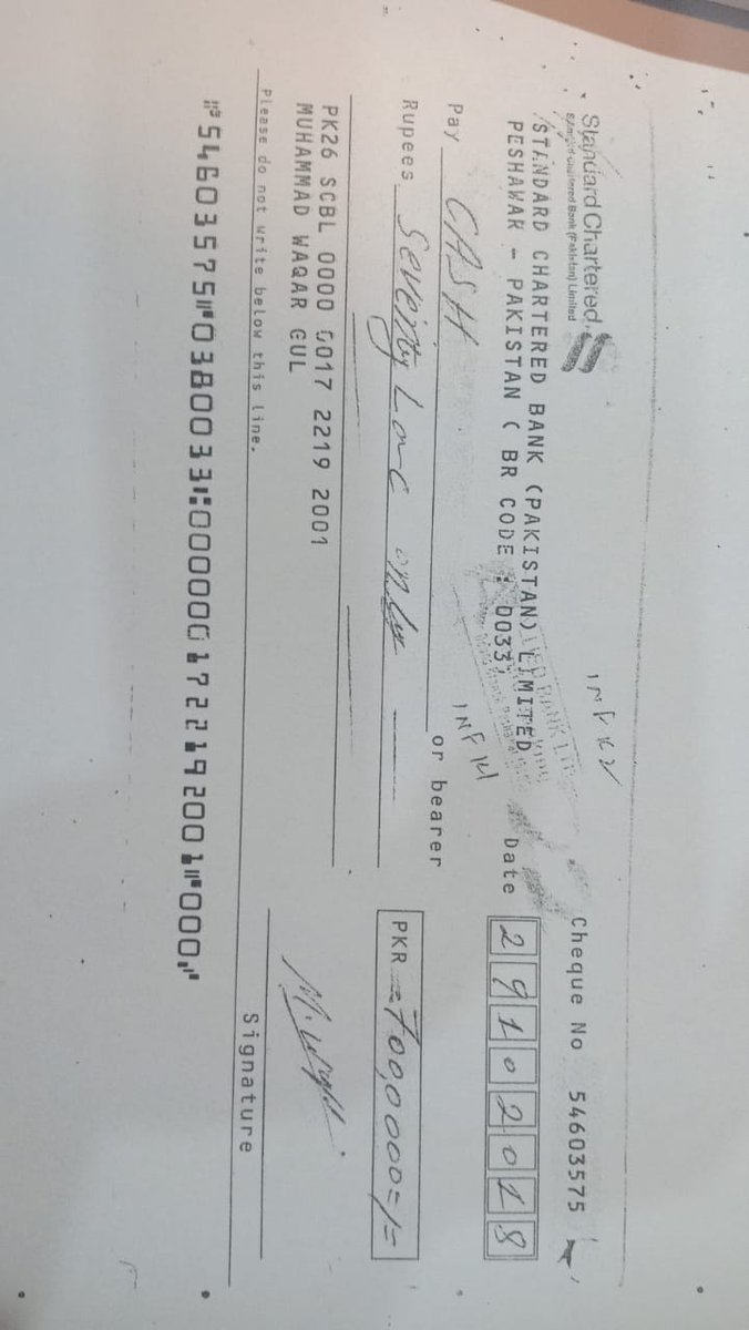 I am request #standardchartered to view in detail the images and look into matter as fraudulent practice occured at end of payee and bank staff and I am suffering from 02 years. Govt of Pak and judiciary has taken action from their end.