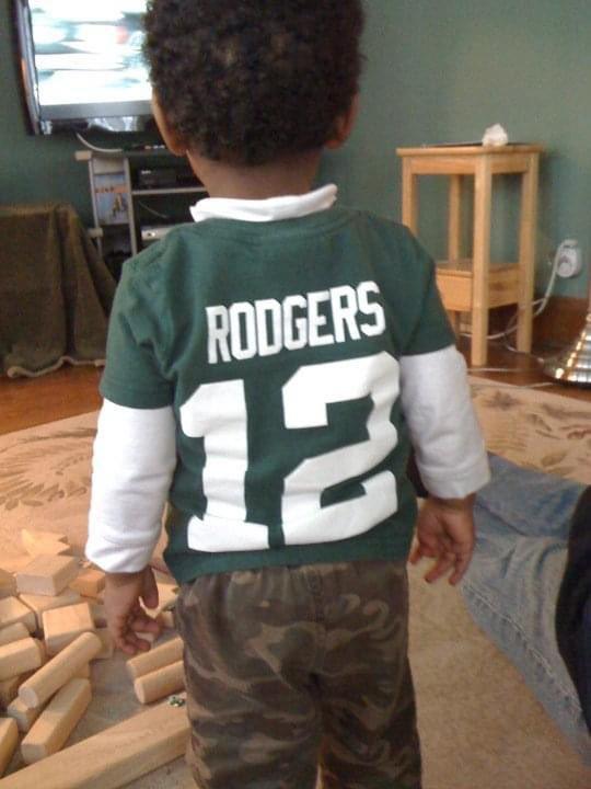 10 year challenge - same kid, same pose, same result 🤞#GoPackGo #Packers