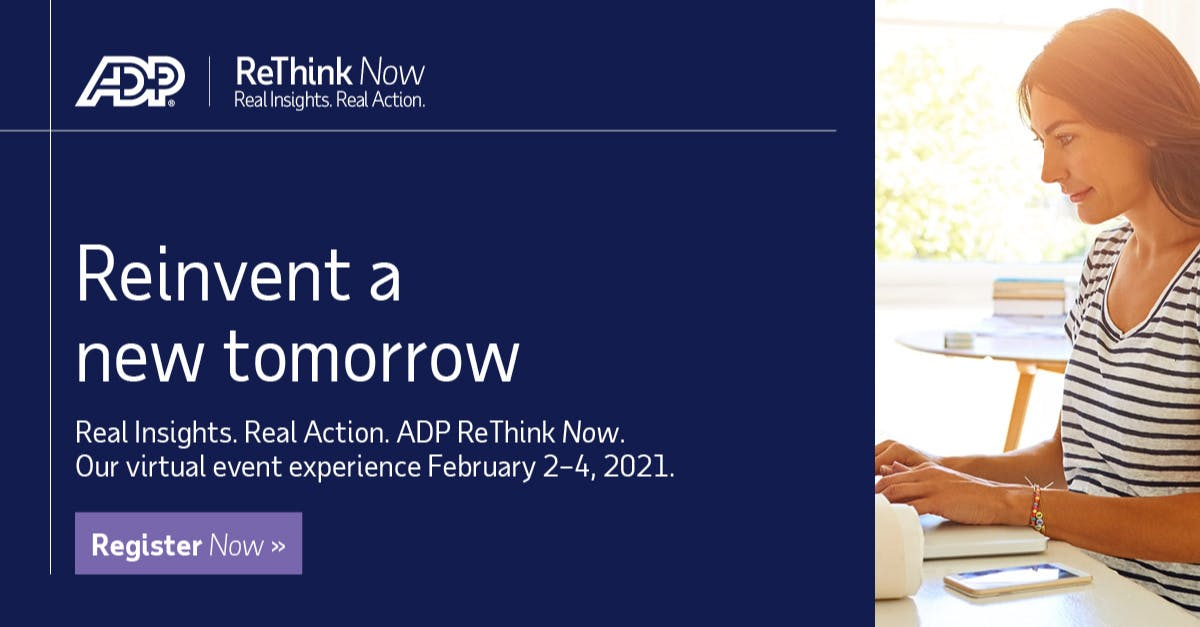 Hosted by Duncan Wardle, former head of innovation and creativity at Disney, ADP #ReThink Now will explore how innovation in Pay & HR is helping organizations to grow, be more efficient, and effectively engage their employees Register now #ADPReThinkNow... https://t.co/mtQu9yHTf4 https://t.co/GkXlP5B3Fr