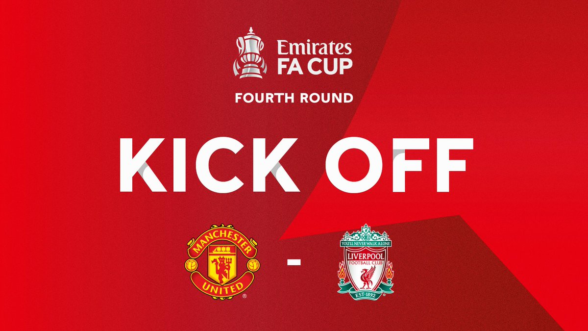 We are underway at Old Trafford! #EmiratesFACup   Follow all of the action here: