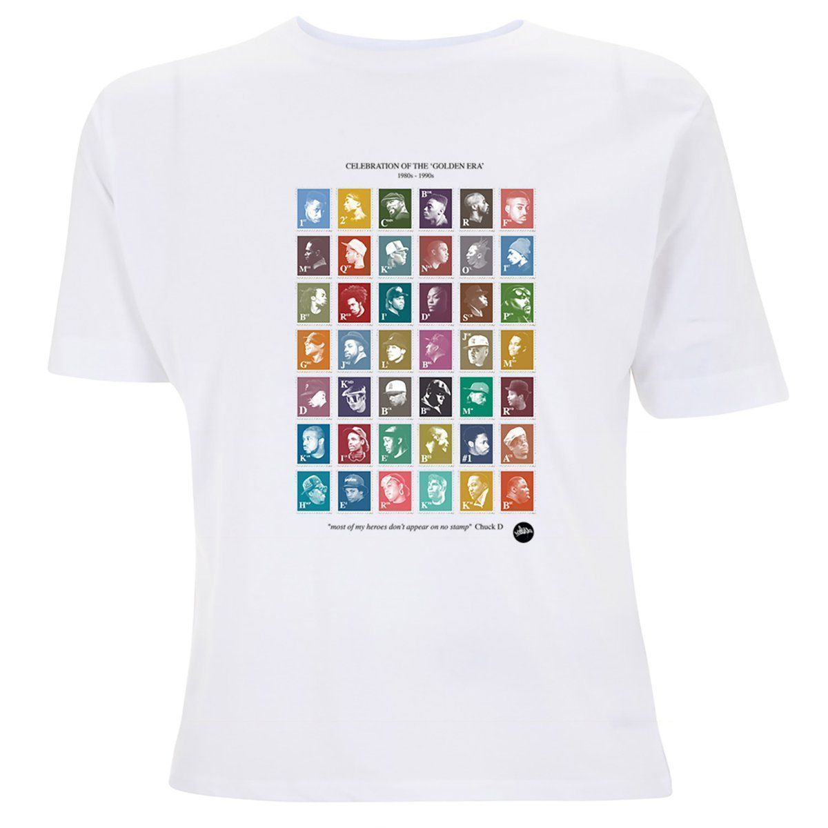 """The GoldenEra HipHop Stamp Collection is back with 2 NEW summer colourways available to now >>  << """"Most of my heroes don't appear on no stamp"""" #FightThePower #HipHop #Stamps #Summer #Clothing #Fashion #Style #ChuckD #PublicEnemy RT"""