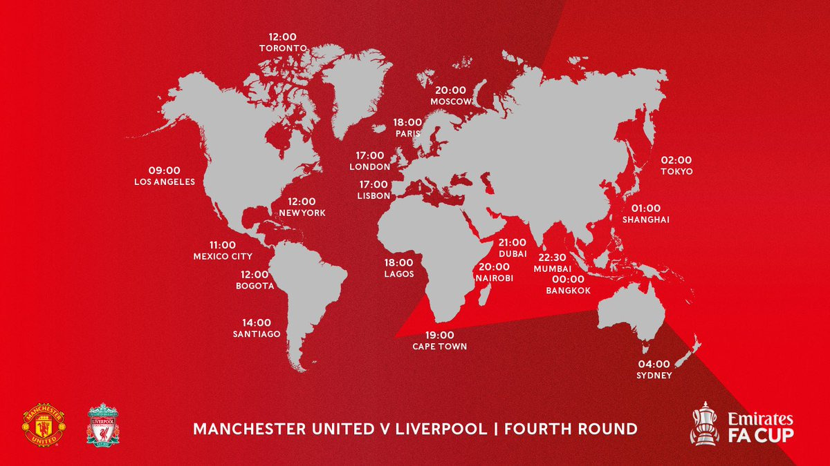 Where in the world are you watching @ManUtd v @LFC? 🌎  Send us a flag! 👇 #EmiratesFACup